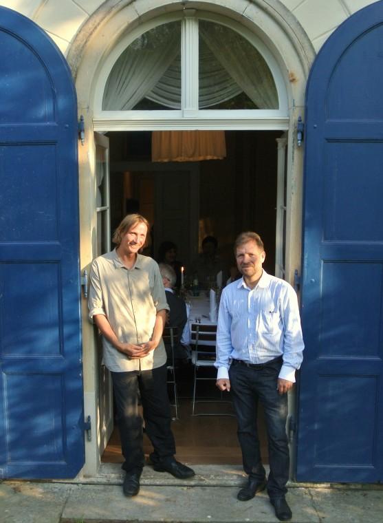 """Klaus Zimmerling und Karl Friedrich Aust zu """" Zwei Winzer im Portrait"""""""