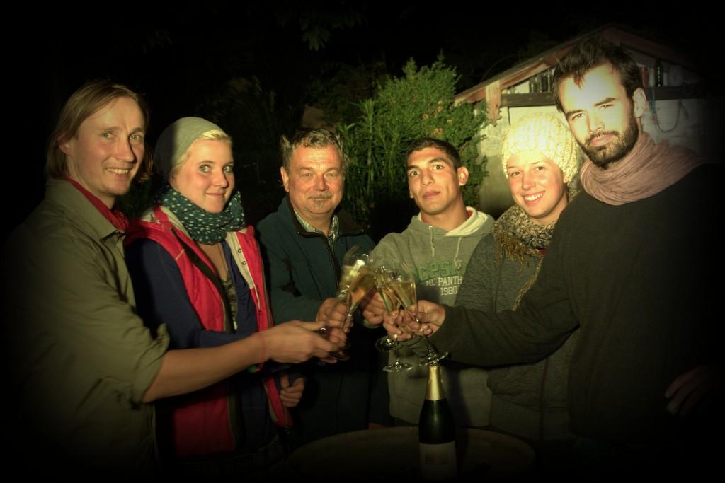 Weinleseabschluss im Weingut Aust am 7.10.2104